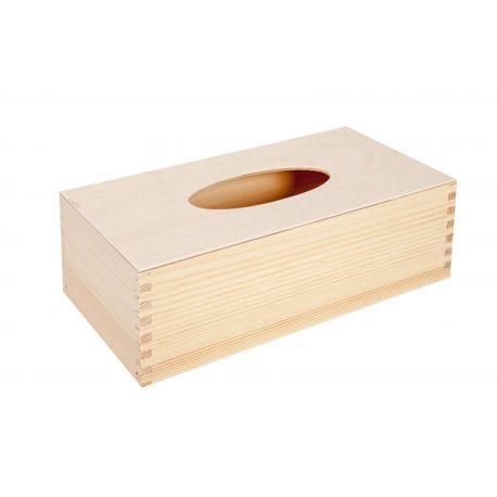 Medinė dėžutė servetėlėms 25x13x8 cm