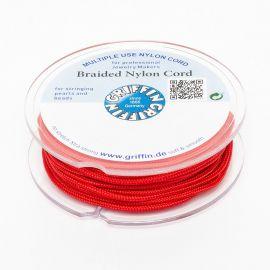 GRIFFIN nailoninis siūlas perlams ir akmenims verti 2.00 mm., 1 ritė raudonos spalvos