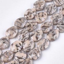 Natūralūs Feldsparo akmenukai 18x13 mm., 1 gija