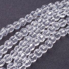 Stikliniai karoliukai skaidrūs 10 mm., 1 gija
