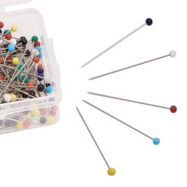 Pins - needles with acrylic bubble 37 mm. ~250 pcs., 1 box for keys of different colors