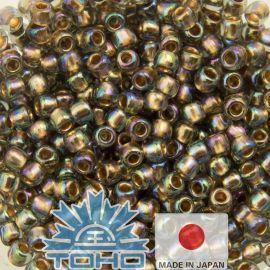 TOHO® Biseris Gold-Lined Rainbow Black Diamond 11/0 (2,2 mm) 10 g.