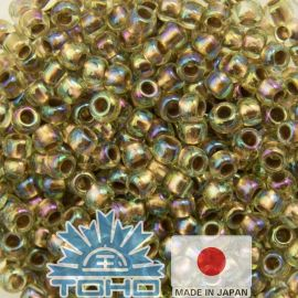 TOHO® Biseris Gold-Lined Rainbow Lt Jonquil 11/0 (2,2 mm) 10 g.