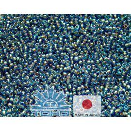 TOHO® Biseris Gold-Lined Rainbow Lt Sapphire 11/0 (2,2 mm) 10 g.
