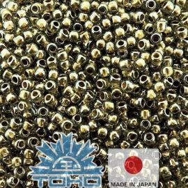 TOHO® Biseris Gold-Lined Black Diamond 11/0 (2,2 mm) 10 g.