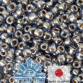 TOHO® Biseris Gold-Lined Lt Montana Blue 11/0 (2,2 mm) 10 g.