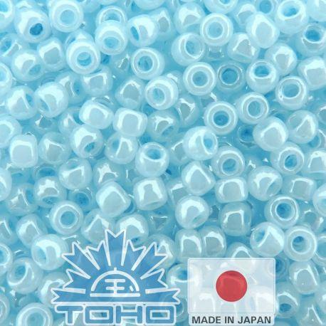 TOHO® Biseris Ceylon Forget-Me-Not 11/0 (2,2 mm) 10 g., 1 maišelis rakndarbiams žydros spalvos