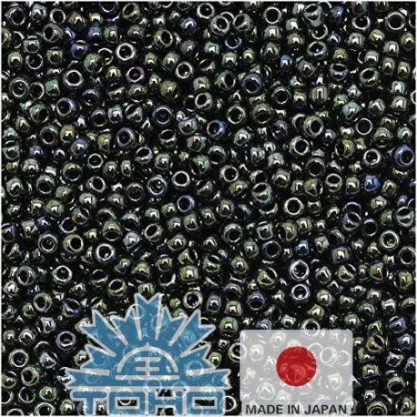 TOHO® Biseris Metallic Moss 11/0 (2,2 mm) 10 g., 1 maišelis rakndarbiams pilkos-žalios-mėlynos spalvos