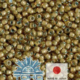 TOHO® Biseris Inside-Color Topaz/Lt Gray-Lined 11/0 (2,2 mm) 10 g.