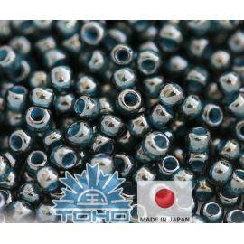 TOHO® Biseris Transparent-Lustered Emerald Green/Denim Blue 11/0 (2,2 mm) 10 g., 1 maišelis