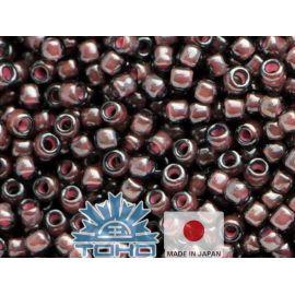 TOHO® Biseris Inside-Color Lustered Black Diamond/Pink-Lined 11/0 (2,2 mm) 10 g., 1 maišelis