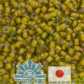 TOHO® Biseris Inside-Color Jonquil/Apricot-Lined 11/0 (2,2 mm) 10 g., 1 maišelis
