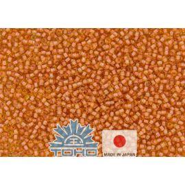 TOHO® Biseris Inside-Color Lt Topaz/Peach-Lined 11/0 (2,2 mm) 10 g., 1 maišelis