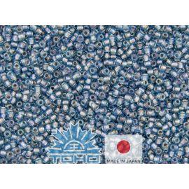 TOHO® Biseris Inside-Color Aqua/Lavender-Lined 11/0 (2,2 mm) 10 g., 1 maišelis