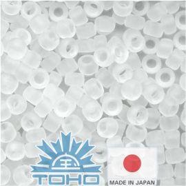 TOHO® Biseris Transparent-Frosted Crystal 11/0 (2,2 mm) 10 g., 1 maišelis rakndarbiams baltos spalvos