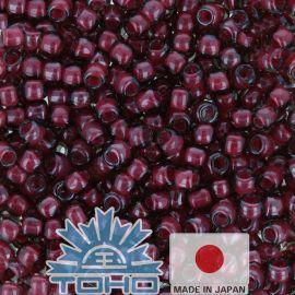 TOHO® Biseris Inside-Color Crystal/Berry Wine-Lined 11/0 (2,2 mm) 10 g.