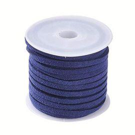 Zomšinė juostelė ~5 metrus, 1 ritė rakndarbiams tamsiai mėlynos spalvos
