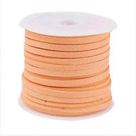 Zomšinė juostelė ~5 metrus, 1 ritė rakndarbiams oranžinės spalvos