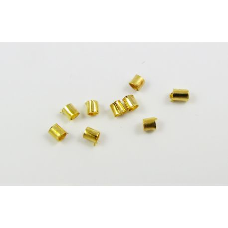 Užbaigimo detalė skirta papuošalų, rankdarbių gamybai, spaustukas, aukso spalvos 1,5x1,5 mm