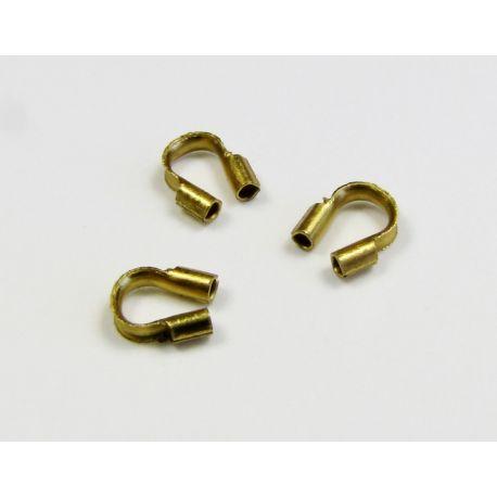 Užbaigimo detalė skirta papuošalų, rankdarbių gamybai, apsauga troseliui, sendintos aukso spalvos 5x5 mm