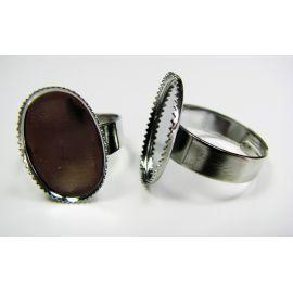 Žiedo pagrindas kabošonui / kamėjai 18x13 mm