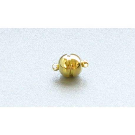 Magnetinis užsegims skirti papuošalų gamybai, vėriniams, aukso spalvos 16x10mm