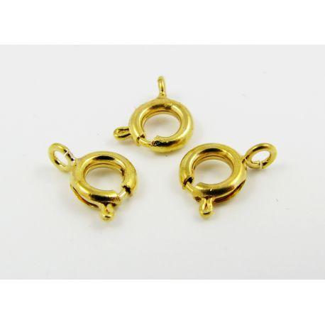 Užsegimas vėriniui, apyrankei, rankdarbiams aukso spalvos 12x6 mm
