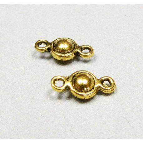 Paskirstytojas - skirtas papuošalų gamybai sujungti elementus, sendintos aukso spalvos 10x5 mm
