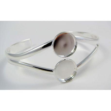 Susikurkite apyrankę pagal save ! Tinka kabošonas ar kamėja 12 mm, sidabro spalvos 17 cm dydžio