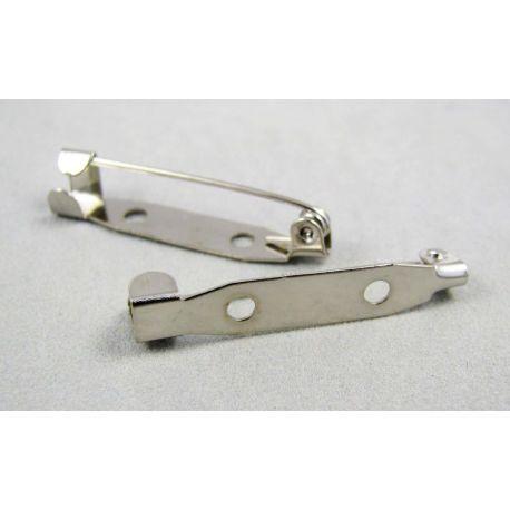 Užsegimas sagei sidabro spalvos dviejų skylių 30 mm