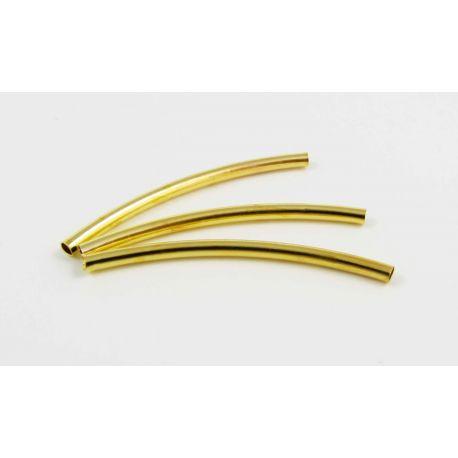 Intarpas skirtas papuošalų gamybai aukso spalvos vamzdelio formos 35x2 mm