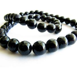 Blue goldstone beads 6 mm
