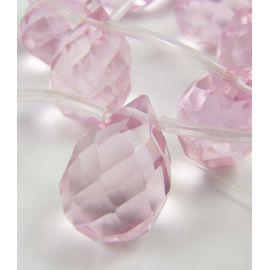 Rožinio kvarco karoliukai 17x12 mm