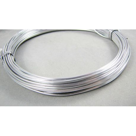Aliumininė vielutė skirta rankdarbiams, papuošalų gamybai, sidabro spalvos, 0,8 mm storio, ritinėlyje apie 10 metrų