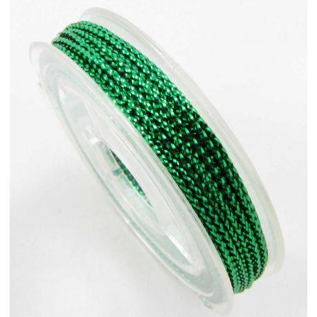 Metalizuotas siūlas 0.60 mm 10 m žalios spalvos