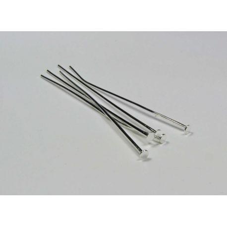Smeigtukai skirti papuošalų gamybai pasidabruoti plokščia galvute 60x0,8 mm