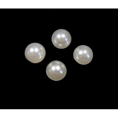 Akrilinis kabošonas baltos spalvos apvalios formos 6 mm