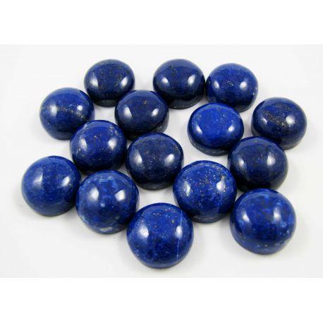 Natūralus Lapis Lazuli kabošonas, apvalios formos 16 mm iš Afganistano