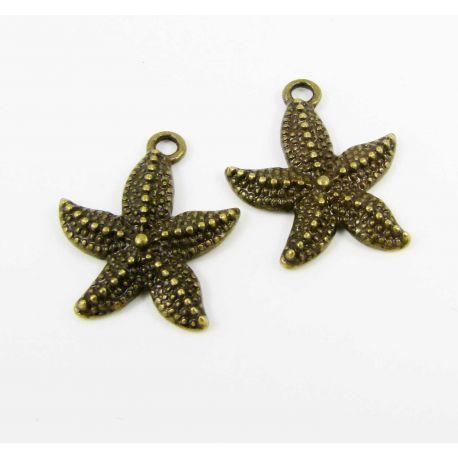 "Pakabukas ""Žvaigždutė"", sendintos bronzinės spalvos, 22x18 mm, 1 vnt."