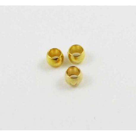 Užbaigimo detalė skirta papuošalų, rankdarbių gamybai, spaustukas, aukso spalvos 2 mm 100 vnt.