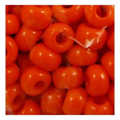 Čekiškas biseris 8/0 (2,9 mm) dydžio, 93140 ryškiai oranžinės spalvos, apvalios formos 50g