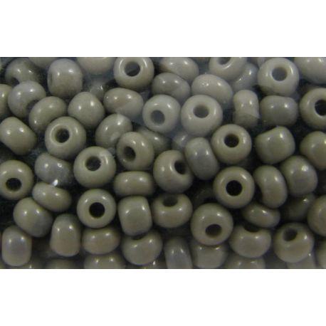 Čekiškas biseris 10/0 (2,3 mm) dydžio, 43020-10 pilkos spalvos, apvalios formos 50g