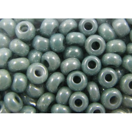 Čekiškas biseris 10/0 (2,3 mm) dydžio, 46055-10 samaninės spalvos, blizgūs, apvalios formos 50g