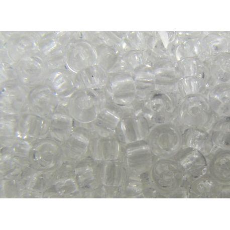 Čekiškas biseris 10/0 (2,3 mm) dydžio, 00050-10 skaidrios spalvos, apvalios formos 50g