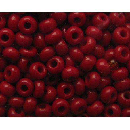 Čekiškas biseris 10/0 (2,3 mm) dydžio, 93310-10 tamsios vyšninės spalvos, apvalios formos 50g