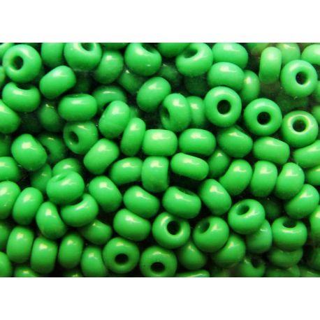 Čekiškas biseris 10/0 (2,3 mm) dydžio, 53250-10 ryškiai žalios spalvos, apvalios formos 50g