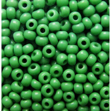 Čekiškas biseris 10/0 (2,3 mm) dydžio, 53230-10 ryškiai žalios spalvos, apvalios formos 50g