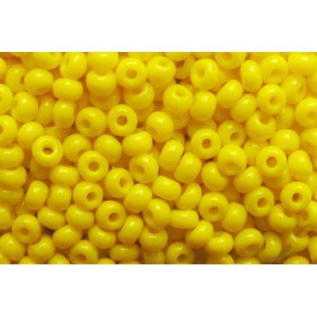 Čekiškas biseris 10/0 (2,3 mm) dydžio, 83110-10 geltonos spalvos, apvalios formos 50g
