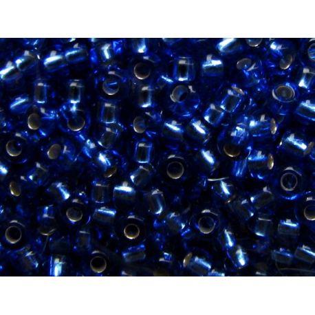 Čekiškas biseris 10/0 (2,3 mm) dydžio, 37050-10 mėlynos spalvos, viduriukas su folija, apvalios formos 50g