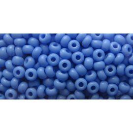 Čekiškas biseris 10/0 (2,3 mm) dydžio, 33020-10 melsvos spalvos, apvalios formos 50g